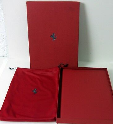 Genuine Official Ferrari Welcome Pack in Red Leather Binder Boxed