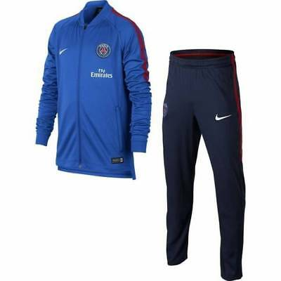 Nike PSG Paris Saint Germain Squad Knit Tracksuit 2017/18 - Navy - Kids