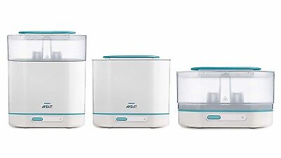 Philips AVENT 3-in-1 Electric Steam Sterilizer Automatic shut off For Kids New