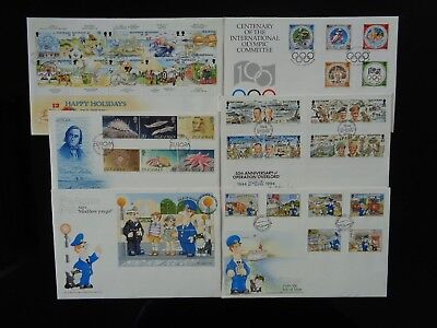 ISLE OF MAN 1994 6 x DIFFERENT COMMEMORATIVE FIRST DAY COVERS