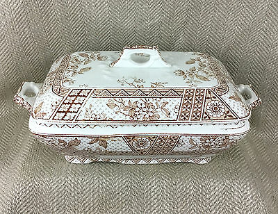 Antique Tureen Serving Dish Bowl Challinor Melbourne Transferware  Victorian