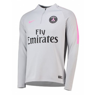 Nike Paris Saint Germain Training Squad Drill Top 2018/19 - Grey - Mens