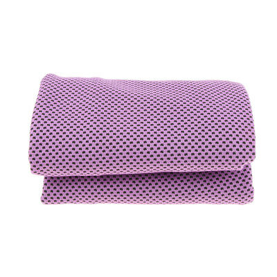 Summer Instant Cooling Towel Ice Cold Sports Neck Cooler Running Gym Purple