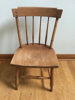 Mid Century Heywood Wakefield Vtg  Danish Modern Maple Dining Chair