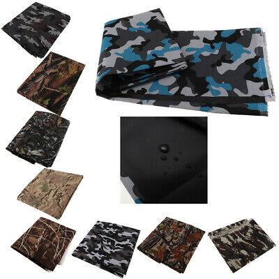 1M Heavy Duty Camo Printed Waterproof Outdoor Canvas Tent Fabric Material Cover