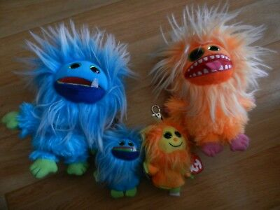Peluches Ty-Frizzys -Fang-Plopsy-Tang Mondial relay 4€50