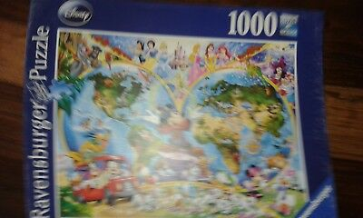 Disneys world map ravensburger 1000 piece jigsaw puzzle 420 ravensburger disneys world map 1000 pc jigsaw puzzle gumiabroncs Images