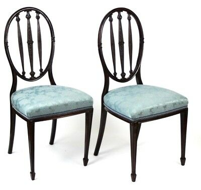 A pair of Hepplewhite Mahogany Dining Chairs - FREE Shipping [P4539]