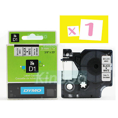 1 Pack Tape Label Compatible for DYMO D1 40913 Black on White 9mm 7m