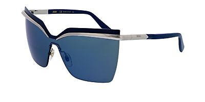 430ae195882 Authentic MCM Sunglasses MCM106S 045 Silver Frames Blue Mirror Lens 65MM