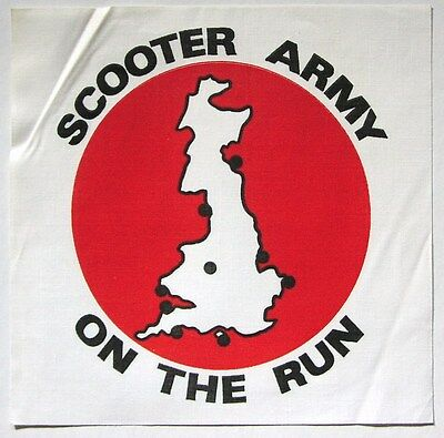 SCOOTER ARMY original 80's UK mod revial cloth backpatch NOS Vespa Lambretta