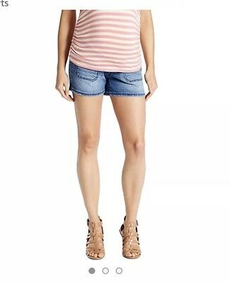 Jessica Simpson Fit Belly Patch Pocket Maternity Shorts