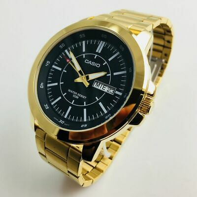 Men's Casio Gold Tone Steel Band 50 mm Watch MTPX100G-1EV