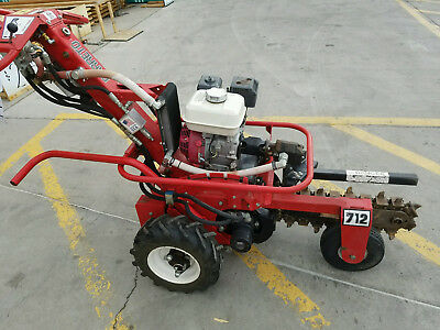 BARRETO Hydraulic Trencher E712-MT self propelled. Commercial grade