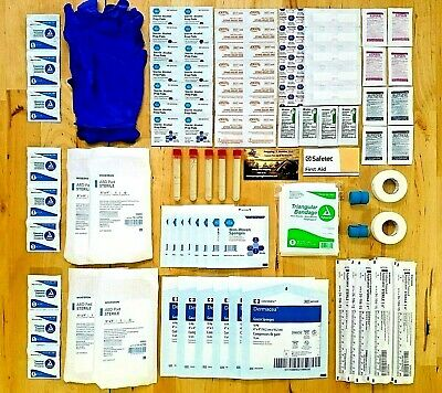 Emergency First Aid Family Outdoor Wound Kit 136 pieces Blood Stop Powder EMT