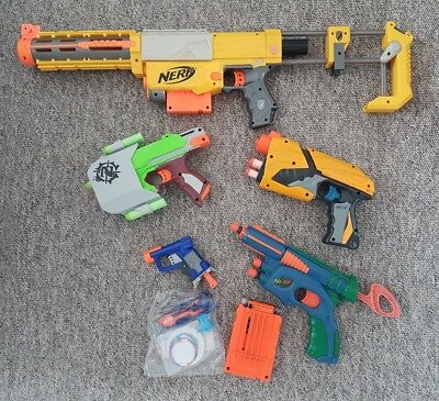 Nerf Bundle Including Recon CS-6, Dart Tag, Side Strike & More with Ammo