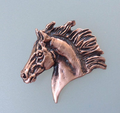 Sculpture horse Slider Pewter Pendant copper finish Zimmer Equestrian Jewelry