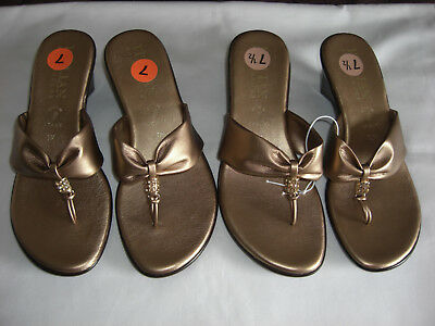 37ea9c141222e Italian Shoemakers Made In Italy Sandals Slip On Heels Shoes~Brand New~Size  7.5
