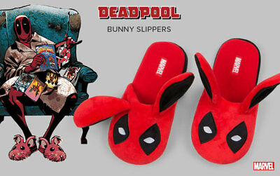 Authentic NWT! Loot Crate DEADPOOL BUNNY SLIPPERS S~M~XL