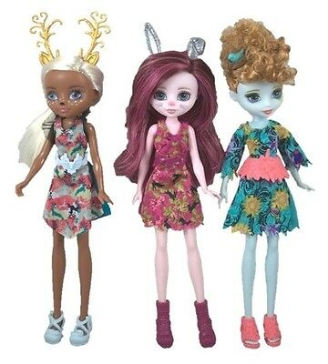 Ever After High Dragon Games Pixie Dolls Deerla Featherly and Harelow- Set of 3