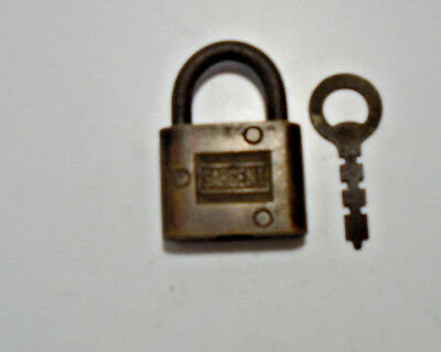 Vintage Sargent Made In New Haven Conn, Key Padlock With Key (5105-413)