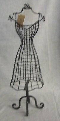 "Store Display Fixtures NEW BODY FORM JEWELRY DISPLAY 15"" tall WIRE MESH"