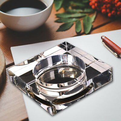 Modern Home/Office Art Deco Portable Square Crystal Ashtray S2Z7