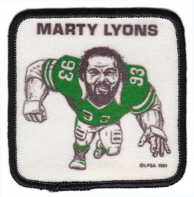 "1981 Marty Lyons New York Jets Nfl Football Vintage 3"" Player Patch"