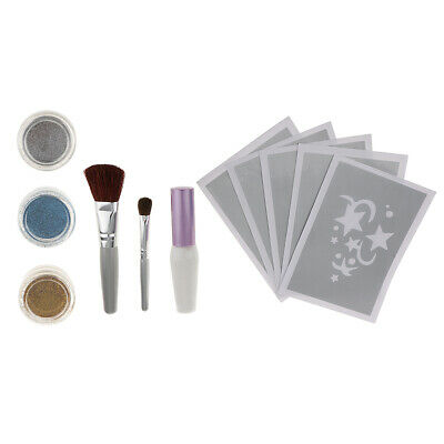 1 Set Shimmer Glitter Tattoo Kit für Gesicht Malerei, Air Brushing oder