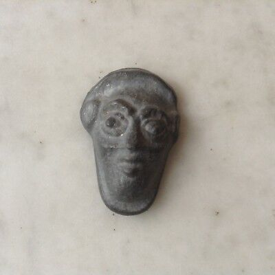 Ancient Greek Protome lead face Phoenician? Archaic Greek?