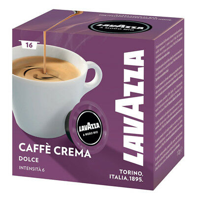 Lavazza A Modo Mio Lungo Dolce Capsules Coffee Machine Pack of 256 Pods 16 Boxes