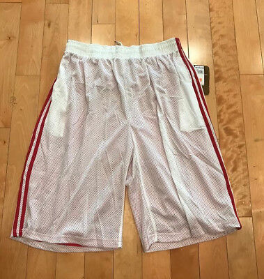 ab07fe73d44a04 Mesh Basketball Shorts Plain Short Loose Fit Big And Tall White Red Size  S-6Xl
