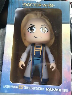 """Titans 13th Doctor Who SDCC 2018 Thirteenth DR Kawaii 6.5"""" Limited Edition vinyl"""