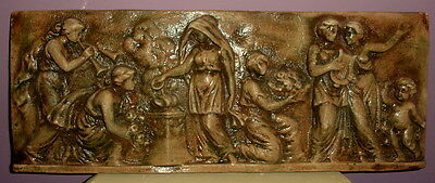"""22"""" Greek Roman Reproduction Muse and Cherubs Wall Plaque Antique Finish  9049"""