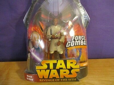 Star Wars Revenge of the Sith Force Combat Mace Windu 10 Action Figure NEW