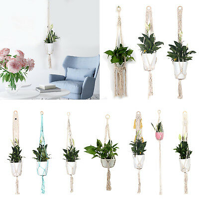 Macrame Plant Hanger Flowerpot Holder Gardenpot Lifting Rope String Home Decor