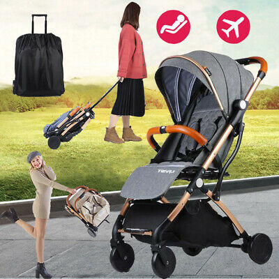 Easy Fold Lightweight Stroller Baby Pram Pushchair Travel Carriage Carry Plane