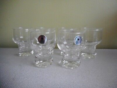 Vintage Crown Corning Glasses 6 Shot,sherry Clear Crafted In Aust Height 7Cm