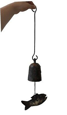 Rare Korean  Antique Bronze Bell_Buddhist Temple  Wind Chime Hanging Bell