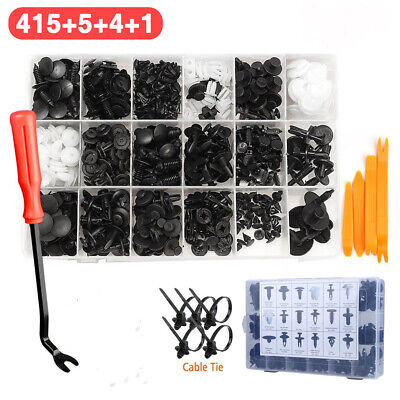 425x Car Body Trim Clips Retainer Bumper Rivets Screws Panel Push Fastener Kit