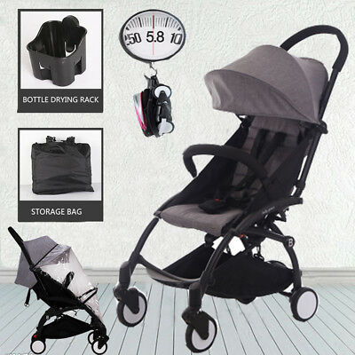 Lightweight Baby Stroller Compact Pram Travel Carry-on Foldable Pushchair