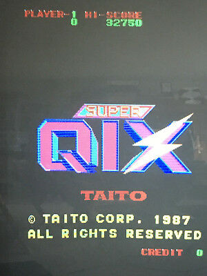 Super QIX  ARCADE JAMMA PCB MOTHERBOARD USED WORKING