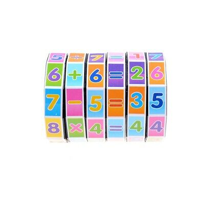 Children Education Learning Math  Teaching Aids Puzzle Cube Spell Answer Toys JT