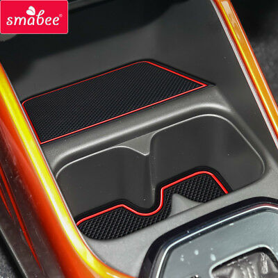 Gate slot pad Cup Holders For SUZUKI IGNIS Interior Door Pad/Cup 15CPS RED