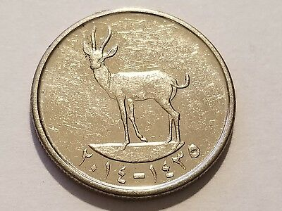 2014 United Arab Emirates 25 Fils - Khalifa - Gazelle