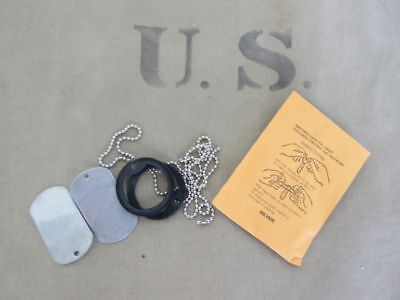 Us Army Id Dog Tags Dog Tag Silencer Black Iraque 1991 Desert Storm Set