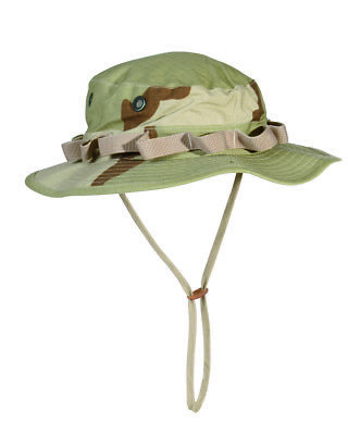 Us Army Camo Gi Jungle Hat R/S Boonie Hat Desert SIZE L Fisherman Hat Angler Hat