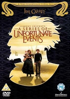 Lemony Snicket's A Series Of Unfortunate Events (2 DVD Set / Jim Carrey 2005)