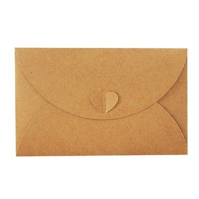 Paper Heart Buckle Envelope For Business Card VIP Bank Debit Card,brown O7K3