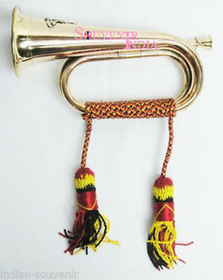 Calvery Brass Bugle for Funeral Vintage Military Signal Trumpet